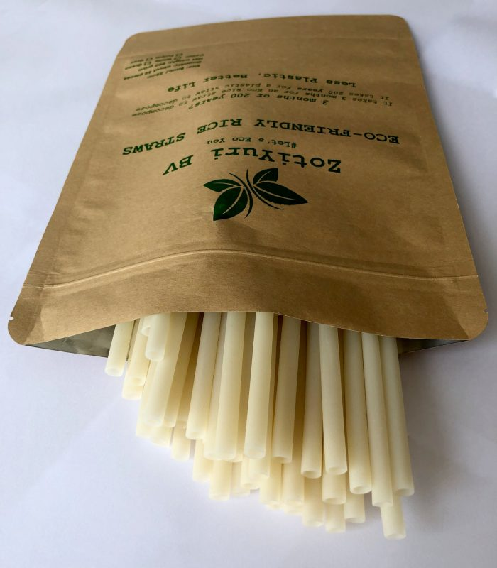 White Straws in a bag