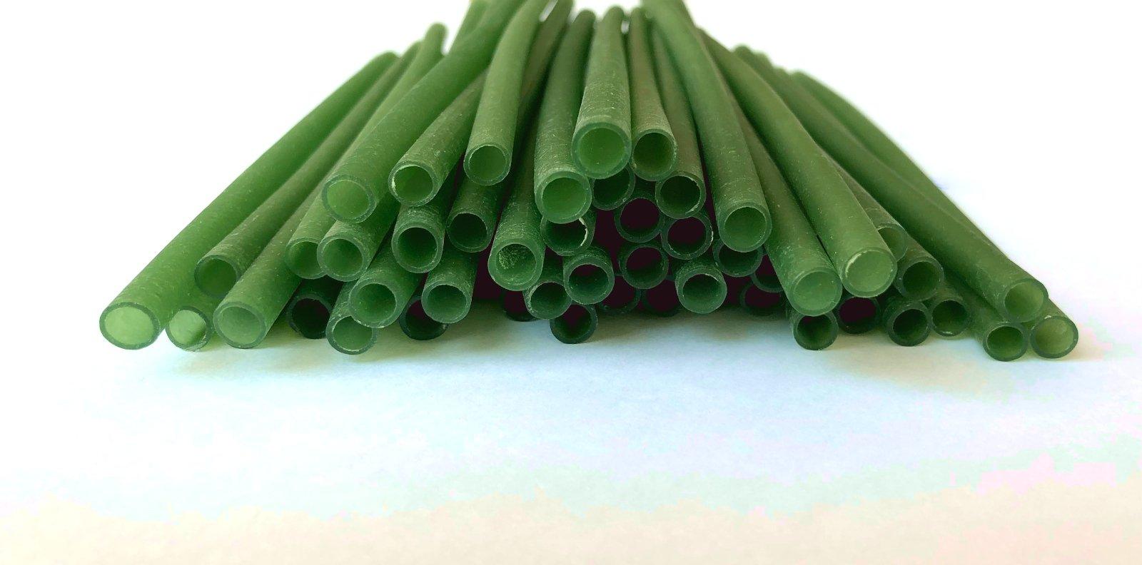 Bio Rizo Straws Green color