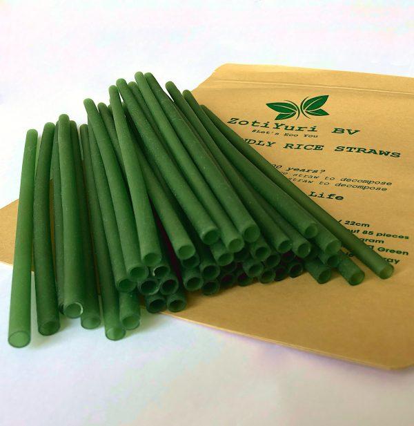Bio Rizo Straws Green